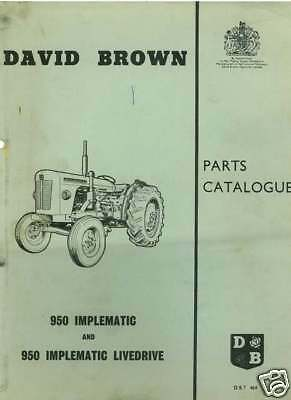 David Brown Tractor 950 Implematic Parts Manual • 29.99£