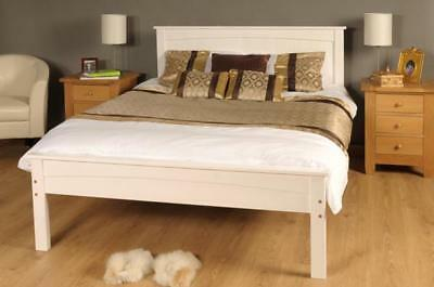 3ft Single 4ft6 Double 5ft King Size Caramel White Wooden Bed Frame - Jessica • 114.99£