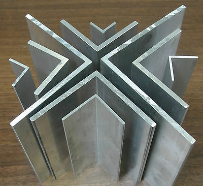 £1.43 • Buy 1 Mtr X Extruded Aluminium Equal Angle 1000mm Lengths Sizes From 1/2  To 4