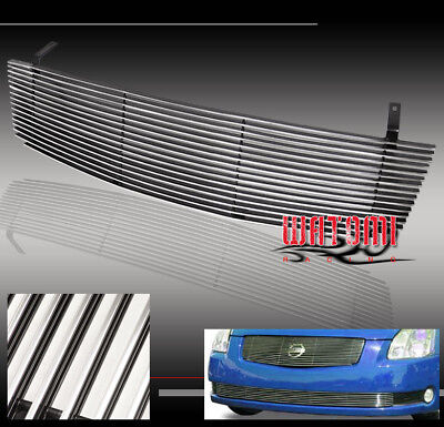 $44.95 • Buy Front Main Upper Billet Grille Grill Aluminum Polished For 04 05 06 Maxima Se Sl