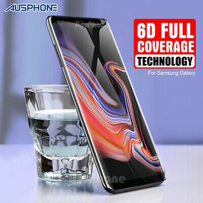 AU6.95 • Buy For Samsung S8 S9 Plus Note 9 8 6D Full Cover Tempered Glass Screen Protector