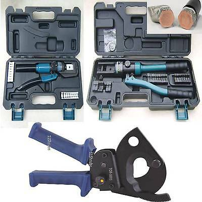£199.95 • Buy 500MM RATCHET CABLE CUTTER 4mm + 300MM HYDRAULIC CRIMPING CRIMPERS FERRULE TOOL