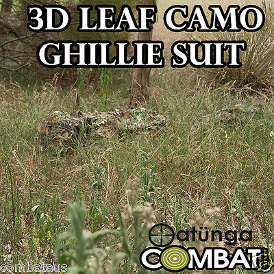 AU69.95 • Buy New Leaf Ghillie 3d Bow, Sniper Tactical 4 Hunting Paintball S/m/l Yowie Suit