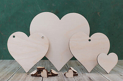 Wooden Heart Shapes Birch Plywood Craft Blanks For Wedding Plaque And Pyrography • 4.28£