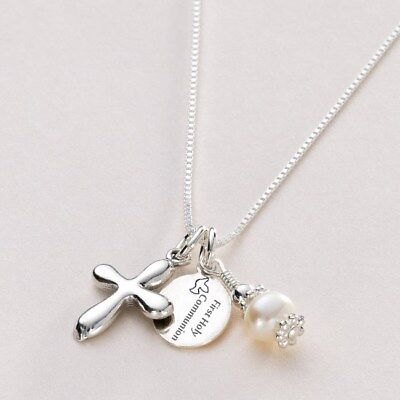 Personalised First Holy Communion Necklace With Engraved Tag, Gift For A Girl • 19.99£
