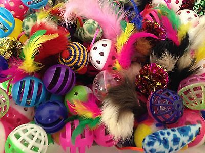 AU11 • Buy Bulk Cat Toys Kitten Soft Feather Mice Sparkle Balls Springs Breeders Rescues