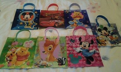 £2.99 • Buy Disney Tote Gift Party Bags - Cars, Winnie The Pooh, Tinkerbell, Princess