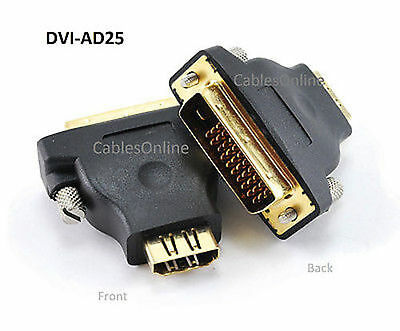 $9.99 • Buy M1-D (P&D) Male To HDMI Female Video Projector Adapter, CablesOnline DVI-AD25