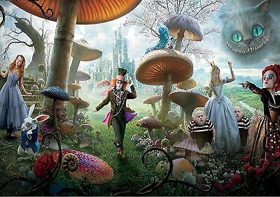 £13.99 • Buy ALICE IN WONDERLAND-kids Bedroom -Giant Large Wall Art Poster A1,A2,A3,A4 AIW02