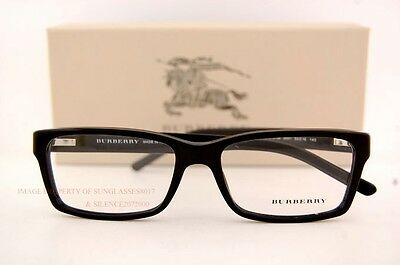 7cc939a64402 Brand New BURBERRY Eyeglasses Frames BE 2108 3001 Black For Men 100%  Authentic • 137.88