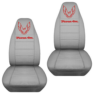 $79.99 • Buy FITS PONTIAC FIREBIRD TRANS AM CAR SEAT COVERS CANVAS Front Set In Silver