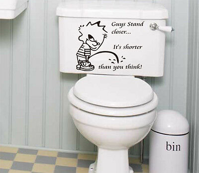 Bathroom Toilet Vinyl Sticker, Home DIY Art Deco Wall Decal- HIGH QUALITY • 3.99£