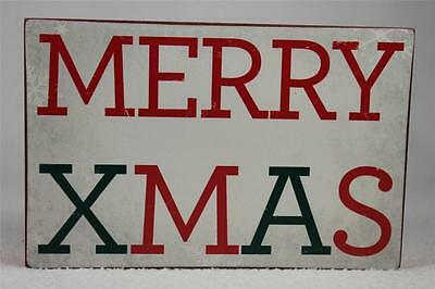 £7.20 • Buy Wooden Word Block 'Merry Xmas' By About Face Designs Hang Or Set NEW!