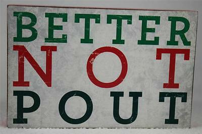 £7.20 • Buy Wooden Word Block 'Better Not Pout' By About Face Hang / Set NEW!