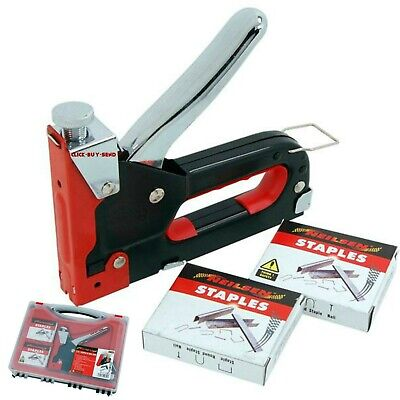£9.99 • Buy Heavy Duty 3 In 1 Staple & Nail Gun 600 X Staples & Nails Included Cable Tacker