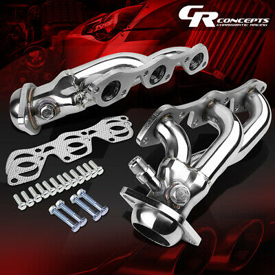 $91.88 • Buy For 97-03 Ford F150/lobo Pickup 4.2 V6 Stainless Exhaust Manifold Header+gasket