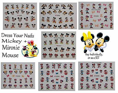 Cartoon Nail Stickers – Childrens, Self Adhesive Disney Mickey + Minnie Mouse   • 49.99£