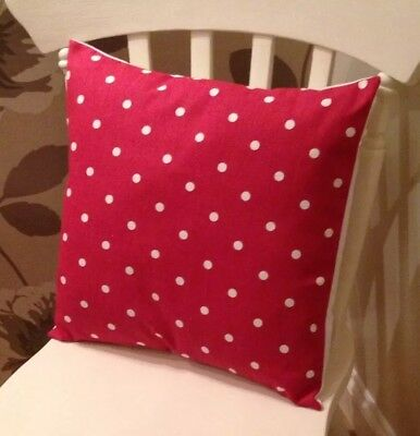 £6.50 • Buy Clarke And Clarke Shabby Chic Red Spot Dotty 16  Christmas Cushion Cover