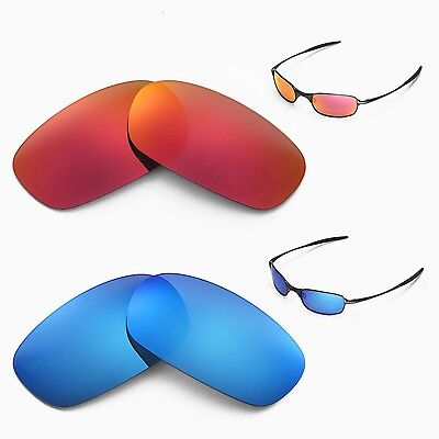 c4c63a1466 New Walleva Polarized Fire Red + Ice Blue Lenses For Oakley Square Wire 2.0  • 34.99