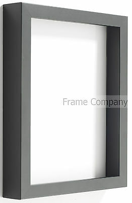 Radcliffe Range Deep Black Wooden 3D Box Frame Choice Of 7 Colour Backing Boards • 15.73£