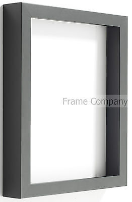 £27.97 • Buy Radcliffe Range Deep Black Wooden 3D Box Frame Choice Of 7 Colour Backing Boards