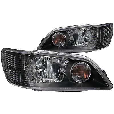 $128 • Buy Set Of Pair OE Style Black Headlights For 2002-2003 Mitsubishi Lancer