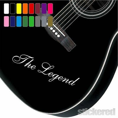 £2.75 • Buy 2 X PERSONALISED VINYL NAME GUITAR STICKERS ANY NAME TEXT FOR BASS ACOUSTIC