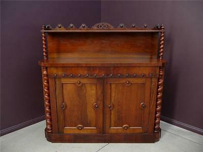 AU1480 • Buy Antique ROSEWOOD Early Victorian Dining Sideboard Chiffonier  Resawreck-antiques