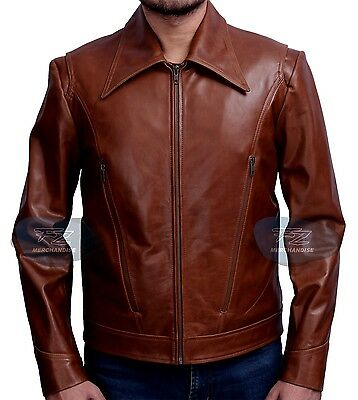 New Xmen Wolverine Days Of Future Past Genuine Brown Slim Fit Leather Jacket • 88.03£