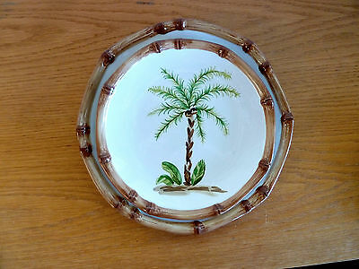 $17.99 • Buy Home Trends West Palm Tree Design Stoneware   1 Salad Plate   9