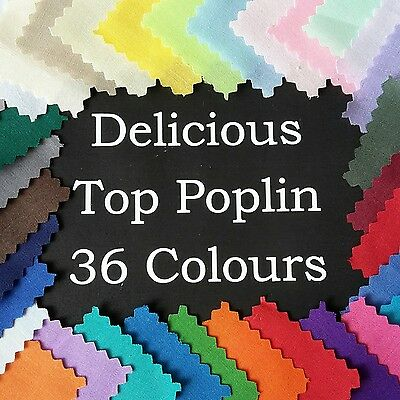 AU4.50 • Buy Poly Cotton NEW POPLIN Dressmaking Quilting Fabric Material Patchwork PLAIN SEW