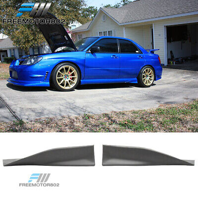 $62.99 • Buy Fit 02-07 Subaru Impreza WRX Rear Side Skirt Strake Spats PU Pair