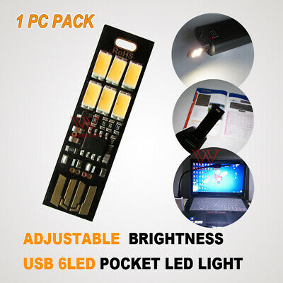 AU5.95 • Buy Dimmabl Led Pocket Portable Camping Lamp Keychain Usb Power Torch Work Light Bar