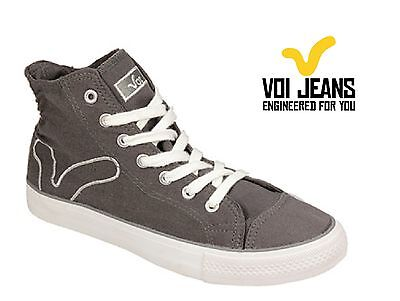 Voi Womens Canvas Pumps, Voi Jeans Girls Trainers - Grey • 13.99£