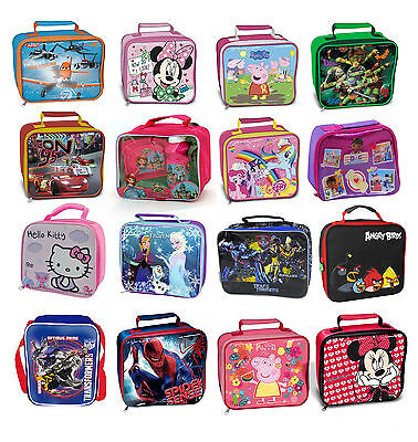 Kids TV Characters  / Disney School Insulated Lunch Bag / Box Kit  New Gift • 6.54£