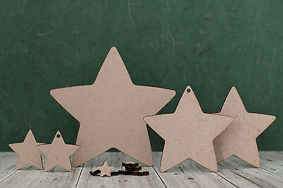 Wooden MDF Star Shape, Craft Blank Cutouts For Decoration, Plaques And Christmas • 2.41£