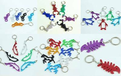 Metal Novelty Bottle Opener KeyRing Beer Tool KeyChain Shark Foot Guitar Lizard • 2.05£