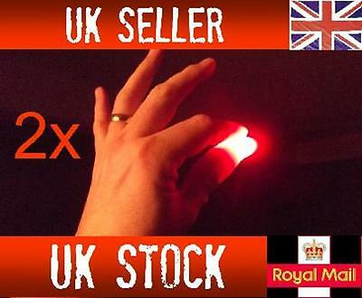 £1.79 • Buy 2x Magic Light Up Thumbs Fingers RED Trick Appearing Light Close Up