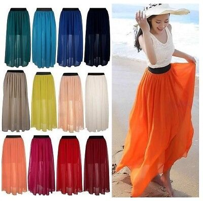 £5.29 • Buy Ladies Summer Maxi Dress Size 8-16 Womens New Evening/Cocktail/Party Long Skirt