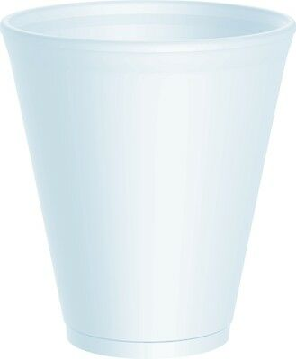 White Foam/polystyrene Party Cups With Or Without Lids - Free Delivery ! 3 Sizes • 9.98£