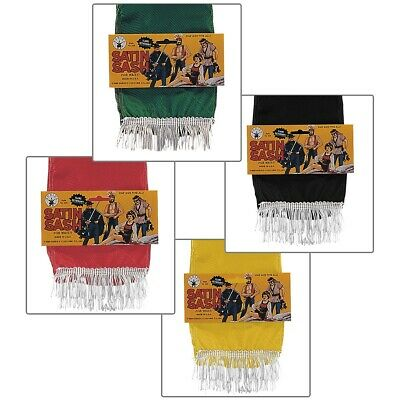 £4.04 • Buy Satin Sash In Black, Green, Red Or Yellow Pirate Gypsy Halloween Costume Acsry