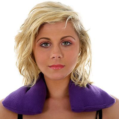 Zhu-Zhu Purple Fleece - Lavender Body Wrap Microwave Wheat Bag Heat Pack Warmer • 7.99£