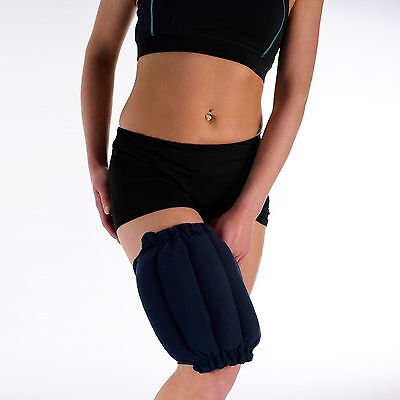 Knee & Leg Pad Microwave Wheat Bag - Navy Fleece Unscented Heat Pack Joint Pain • 9.99£