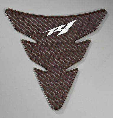 AU69.83 • Buy Yamaha R1 YZF-R1 Fuel Tank Pad Red Carbon Fibre Look Protector