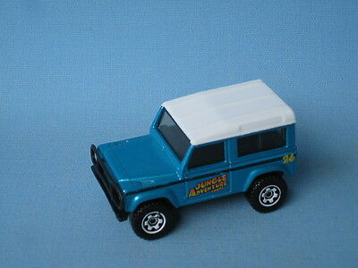 Matchbox Land Rover 90 Defender Jungle Off Road Met Blue Toy Model Car • 14.99£