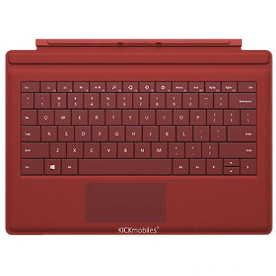 AU359 • Buy New Microsoft Type Cover 3 QWERTY UK KEYBOARD Red For Surface Pro 3 Tablet