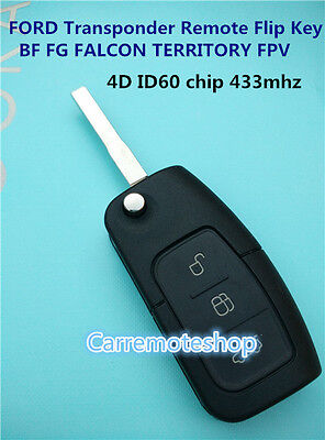 AU17.75 • Buy FORD BF FG Falcon Territory FPV Mondeo  3 Button Transponder Remote Flip Key
