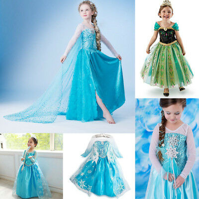 AU21.95 • Buy Girl Party Dress Costume Princess Queen Elsa Party Birthday Size 1-10Yrs