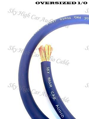 AU3.59 • Buy 1/0 Gauge AWG BLUE Power Ground Wire Sky High Car Audio Cable Sold By The Foot
