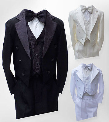 £21.99 • Buy Baby Boys Christening Outfit, Boys Tuxedo Tail Suits, Page Boy Outfit 3M To 6YRS
